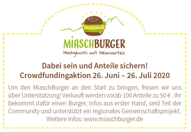 MiaschBurger Crowdfundingaktion unter www.miaschburger.de